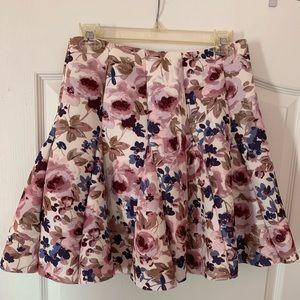 Lauren Conrad Runway Floral Skirt